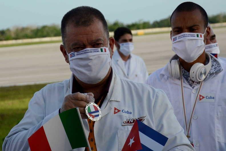 cuba, italia, lombardia, medicos cubanos, covid-19, coronavirus