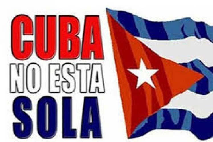 Desde distintas partes del mundo llegan cada día muestras de solidaridad con la isla.