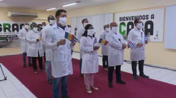 La brigada de Andorra fue una de las 38 que enviaron las  autoridades cubanas a otros 30 países. (Foto: Captada de la TV)