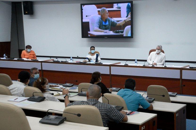 Nuestro objetivo fundamental es la innovación, o sea, la solución de  problemas, aseguró el presidente cubano. (Foto: Estudios Revolución)