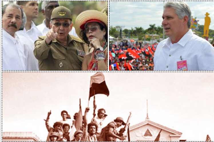 Los dos líderes cubanos felicitaron a Nicaragua en nombre del pueblo y gobierno de la isla. (Foto: PL)