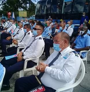Choferes y demás trabajadores de la UEB Ómnibus Nacionales participaron en la actividad.