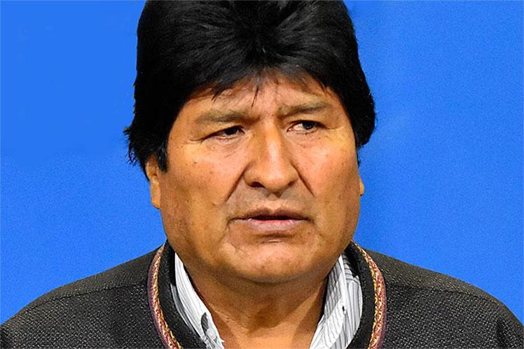 La Fiscalía de La Paz pretende imputarme por  terrorismo con un audio alterado y sin ser notificado, aseguró Evo. (Foto: PL)