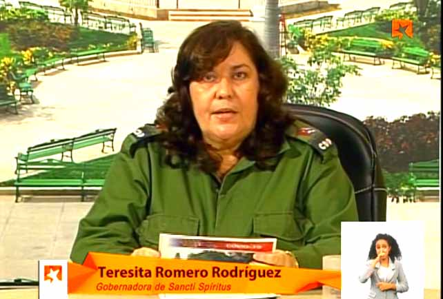 Buscamos las reservas presentes en cada sector del territorio, aseguró la gobernadora en la Mesa Redonda de este lunes. (Foto: Captada de la Televisión)