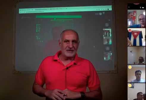 Ricardo Ronquillo, presidente de la Upec, destacó mediante videoconferencia la profesionalidad demostrada en el Concurso este año. (Foto: Captada de Cubaperiodistas)