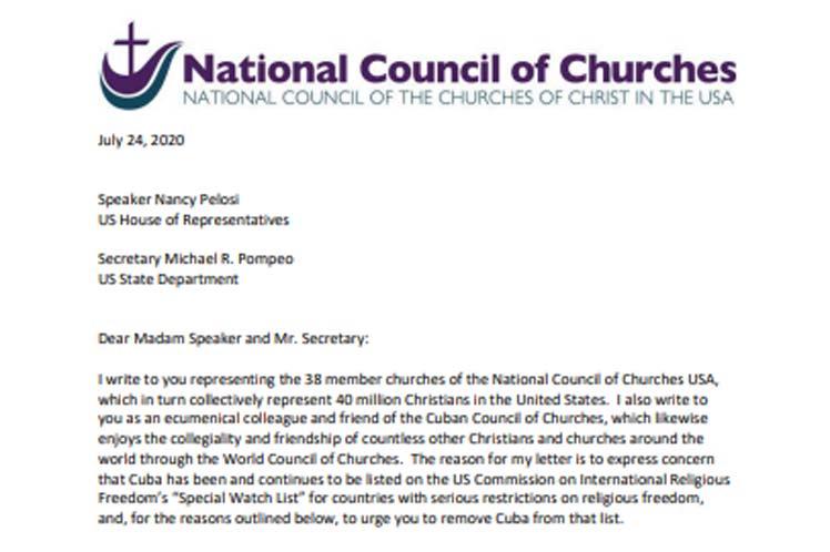 El presidente del NCC, Jim Winkler calificó esa acción de 'error de juicio atroz' por parte del gobierno norteamericano. (Foto: PL)