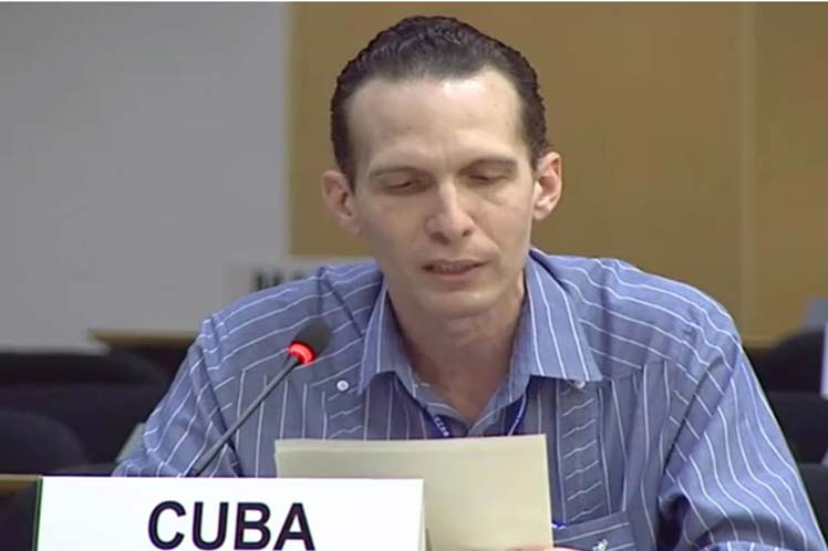 El representante cubano insistió en la postura  de la isla de abogar por el tratamiento del tema de la  lucha anticorrupción desde un apego a la Carta de la ONU. (Foto: PL)