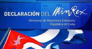 cuba, bolivia, declaracion del minrex, covid-19, coronavirus