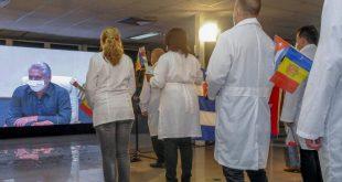 cuba, medicos cubanos, miguel diaz-canel, presidente de la republica de cuba, contingente henry reeve, andorra, covid-19, coronavirus, pandemia mundial