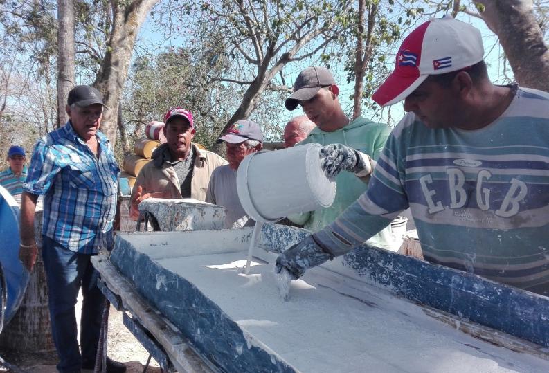sancti spiritus, guayos, minindustria, pintura, economia cubana