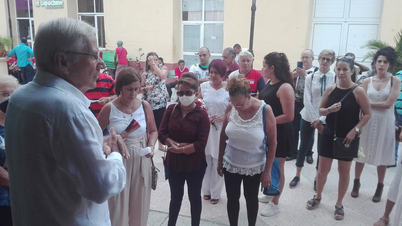 Roberto Villoch Fernández, director de la Oficina del Conservador de la ciudad de Sancti Spíritus, oficializó la apertura del suceso.