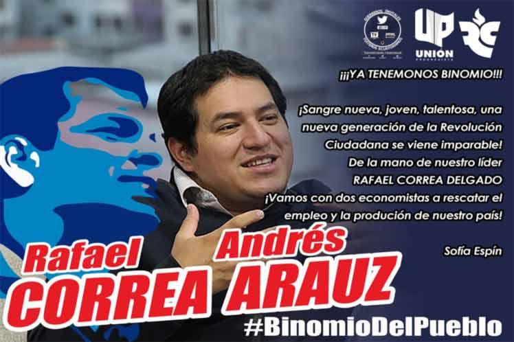 Arauz fue ministro en el gobierno de  Correa. (Foto: PL)