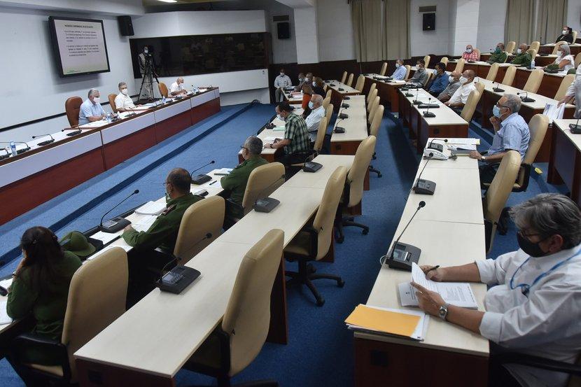 El Grupo Temporal de Trabajo del Gobierno para el control de la epidemia, en esta ocasión centró el análisis en la situación de la capital. (Foto: Estudios Revolución)