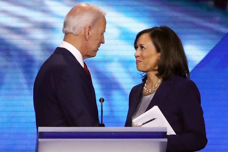 Joe Biden eligió a la senadora Kamala Harris como su compañera de fórmula para los venideros comicios  estadounidenses. (Foto: PL)
