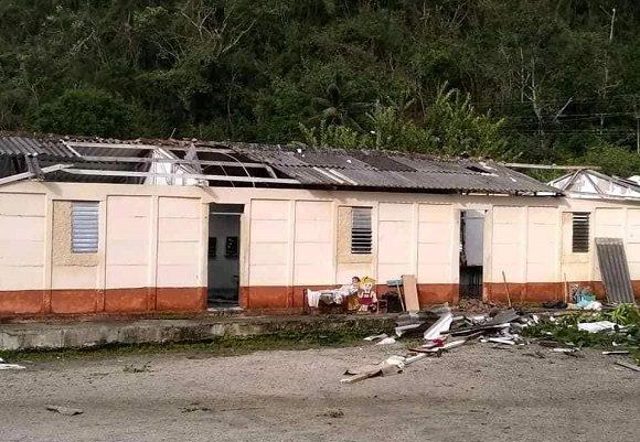 La capacidad de respuesta del país debe ponerse de manifiesto para resolver las dificultades causadas por la tormenta Laura en un grupo de escuelas. (Foto: CMHW)