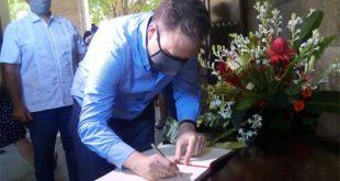 Eusebio Leal, honores, Libro de condolencias