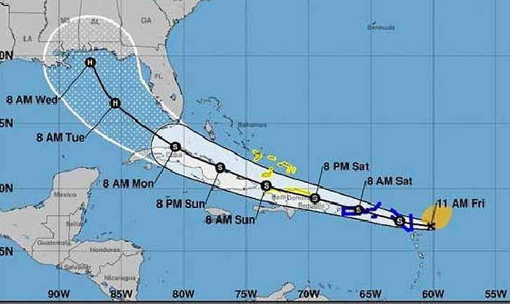 Todo el territorio nacional pudiera verse afectado por la tormenta tropical Laura.