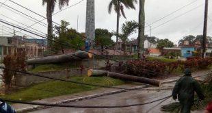 sancti spiritus, tormenta tropical laura, ciclones, huracanes, desastre naturales, cabaiguan, redes electricas
