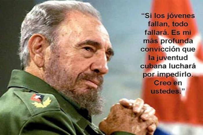 cuba, fidel castro, #fidelporsiempre, dia internacional de la juventud