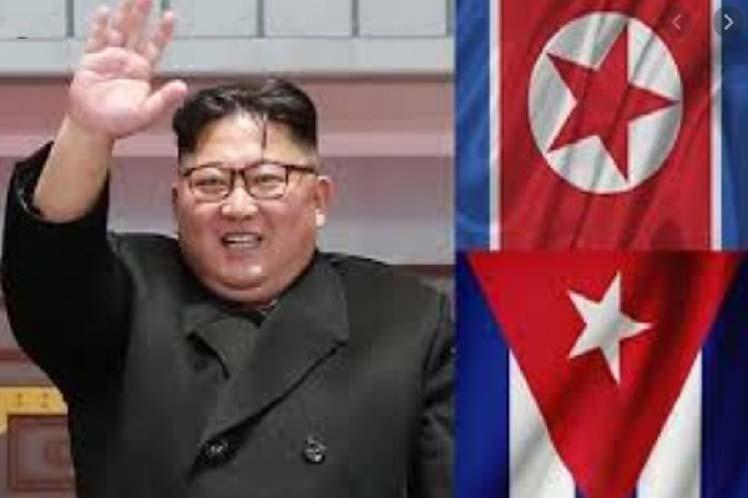 Kim Jong Un apuntó que la amistad entre Pyongyang y La  Habana fue creada por los grandes líderes Kim Il Sung y Fidel Castro. (Foto: PL)