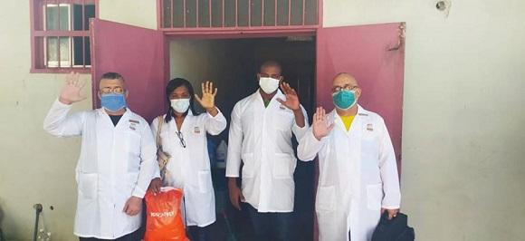 Colaboradores médicos cubanos en el frente contra la COVID-19 en Venezuela. (Foto: Tomada de CubaMinrex)