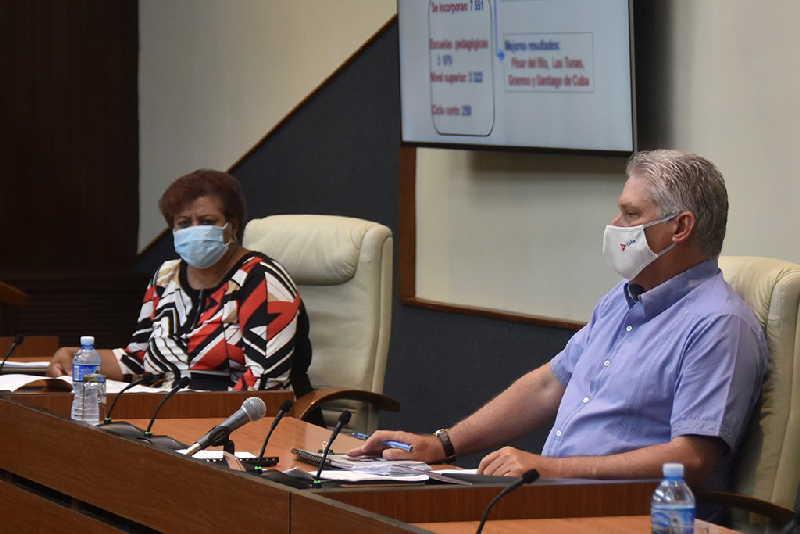 cuba, curso escolar, covid-19, coronavirus, miguel diaz-canel, presidente de la republica de cuba