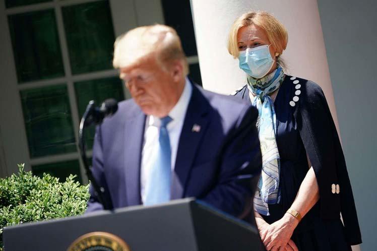 Ahora el centro de los ataques de Trump fue Deborah Birx, quien coordina la respuesta de la Casa Blanca al coronavirus SARS-Cov-2. (Foto: PL)