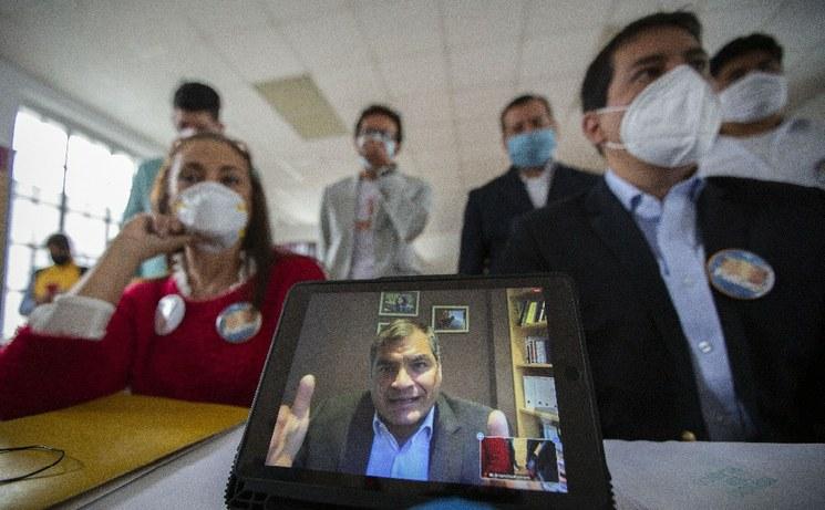 Si el CNE no acepta definitivamente la precandidatura de Correa, la  Unión por la  Esperanza está lista para sustentar el caso, aseguró Arauz. (Foto Xinhua)
