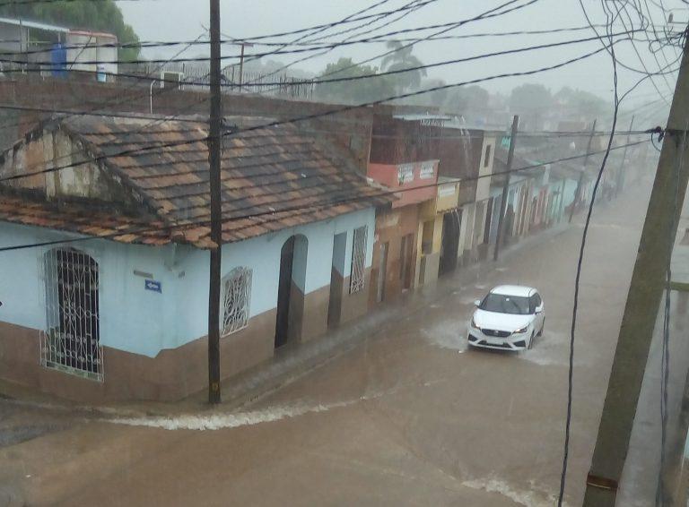 En la ciudad de Trinidad se reportaron precipitaciones de consideración, al registrarse 88 milímetros en 24 horas. (Foto: José Rafael Gómez Reguera)