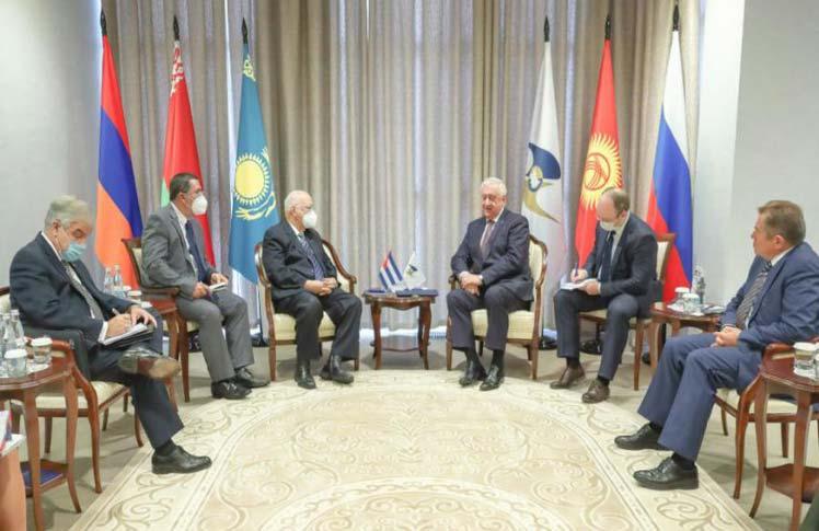 Cabrisas y Borisov se pronunciaron por continuar en el avance en todas  las esferas de interés común. (Foto: PL)