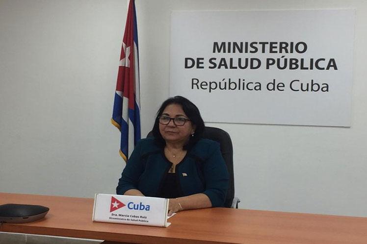 La viceministra cubana Marcia Cobas defendió el derecho de la isla a ser electa para el Comité Ejecutivo de la OPS. (Foto: PL)