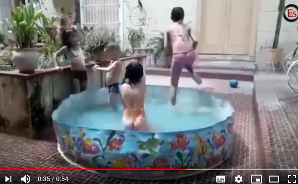 sancti spiritus, piscinas, altas temperaturas, calor