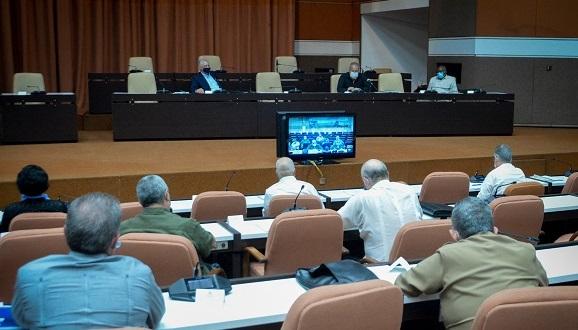 La reunión del Grupo Temporal para la prevención y control del nuevo coronavirus se realizó este martes en el Palacio de las Convenciones. (Foto: Estudios Revolución)