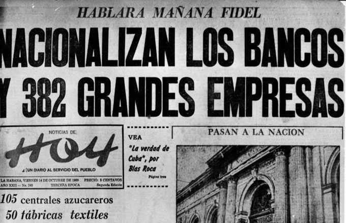 Titular del periódico Hoy del 14 de octubre de 1960.