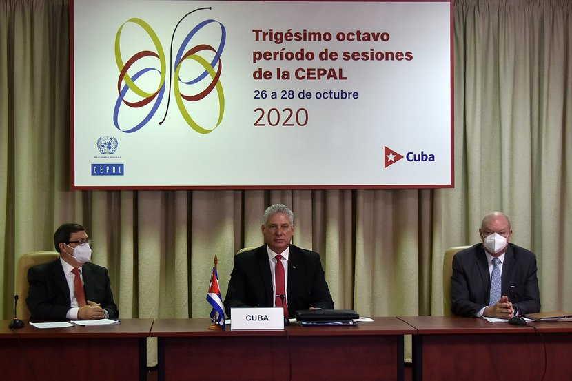 cuba, cepal, comision economica para america latina y el caribe, cuba-cepal, miguel diaz-canel, presidente de la republica de cuba