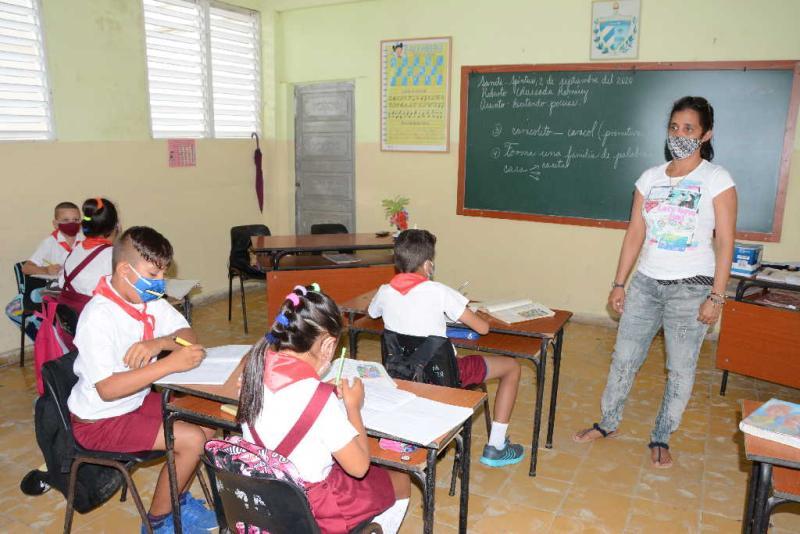 En las más de 290 escuelas de la Enseñanza Primaria en Sancti Spíritus finalizó el curso escolar 2019-2020.