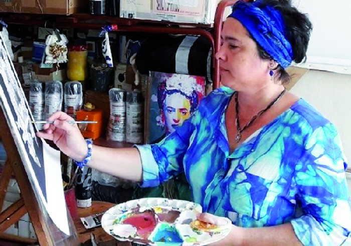 sancti spiritus, artes plasticas, yudit vidal, trinidad
