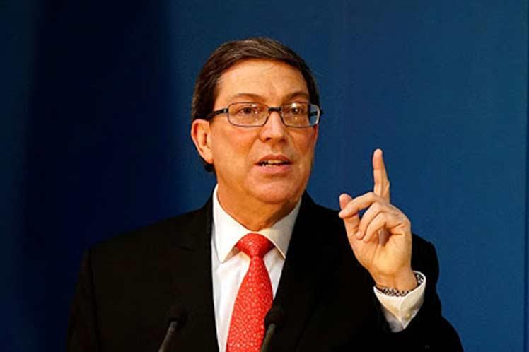Bruno Rodríguez catalogó como 'calumnia pura' las alegaciones de los representantes de Donald Trump. (Foto: PL)