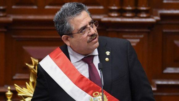 Manuel Arturo Merino había asumido el martes 10 de noviembre la presidencia y a menos de una semana tuvo que renunciar. (foto: AFP)