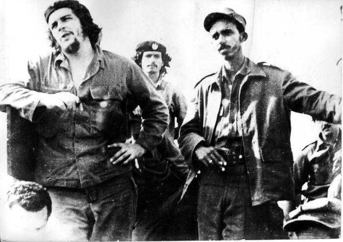 Con el Che durante la construcción de la Ciudad Escolar Camilo Cienfuegos.