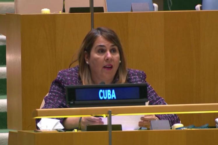 Ana Silvia Rodríguez dio a conocer la posición de la nación caribeña ante el organismo multilateral. (Foto: PL)