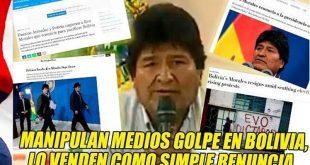 bolivi, golpe de estado, evo morales, medios de difusion masiva