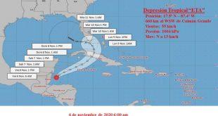 cuba, eta, lluvias, tormenta tropical, ciclones, huranes, desastres naturales