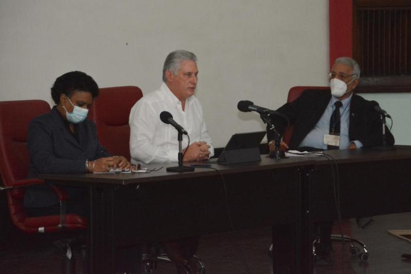 cuba, ciencia cubana, miguel diaz-canel, presidente de la republica de cuba, covid, centros cientificos
