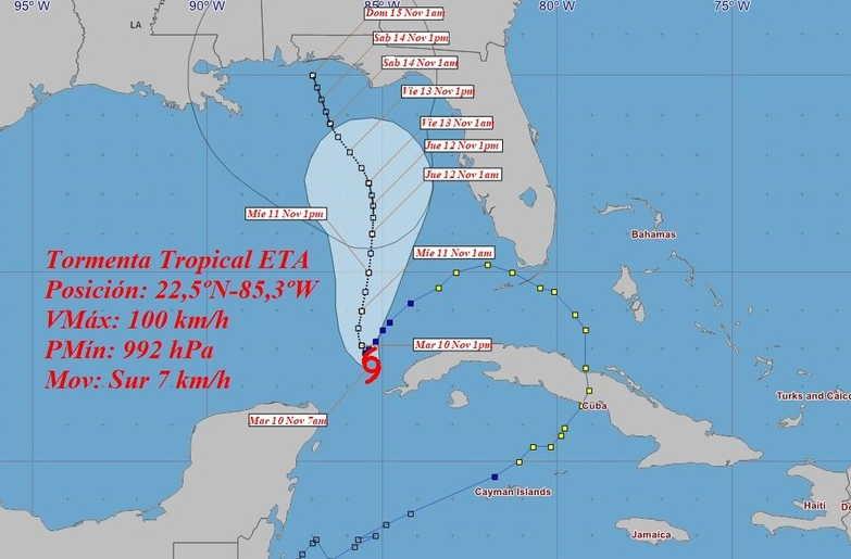 cuba, tormenta tropical eta, ciclones