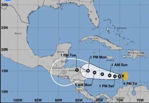 Iota representará peligro de vientos fuertes, marejadas e intensas lluvias en Centroamérica. (Imagen: PL)