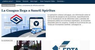 sancti spiritus, sitio web