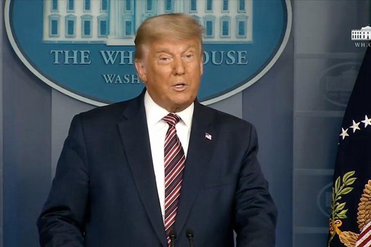 En declaraciones desde la Casa Blanca, Trump insistió en el fraude electoral sin ofrecer evidencias. (Foto: PL)