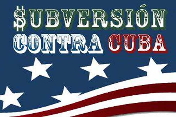 El propio Departamento de Estado reconoce la entrega de fondos para programas de subversión contra Cuba.