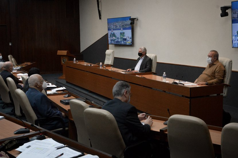 El encuentro fue encabezado por el presidente Miguel Díaz-Canel y el Primer Ministro Manuel Marrero. (Foto: Estudios Revolución)